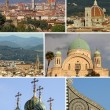 Collage with religious landmarks of Florence — Stock Photo