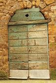 Porta in legno rustico — Foto Stock