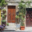 Rustic front doors  in Tuscany - Stock Photo