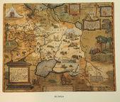Antigo mapa da rússia — Foto Stock