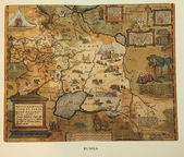 Antique map of Russia — Stock Photo