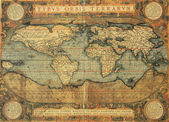 Antique map of the world — Stock Photo
