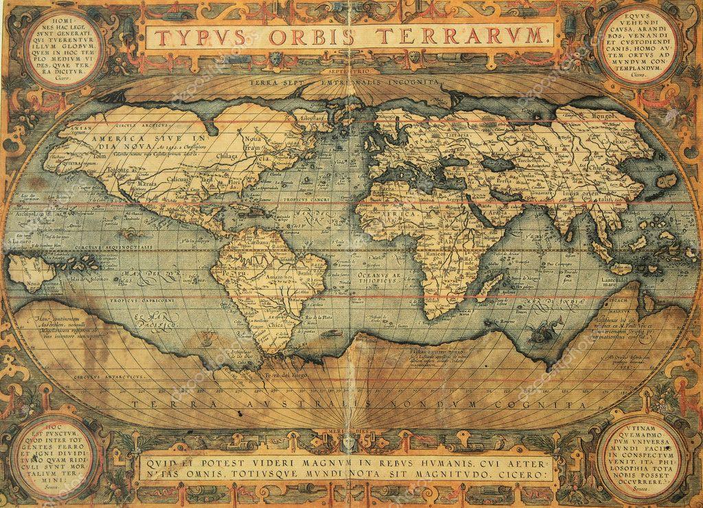 Фон карта старинная