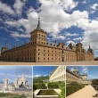 Collage with images of El Escorial — Stock Photo