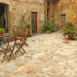 Foto Stock: Paved rustic terrace in Tuscany