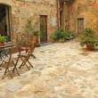 Stock Photo: Paved rustic terrace in Tuscany