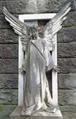 Antique cemetery angel — Stock Photo