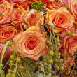 Orange roses composition — Stock Photo