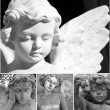 Cemetery angels collage — Stock Photo