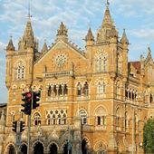 Bina antika tren istasyonunun mumbai — Stok fotoğraf