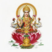 Image of Lakshmi, indian goddes — Stock Photo