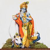 Hinduiska guden krishna — Stockfoto