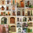 Collage with antique doors in Italy — Stock Photo #9203078