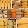 Collage with various cheese — Stock Photo #9203779