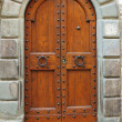 Stock Photo: Elegant double vintage door