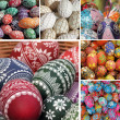 Easter eggs collage - Stockfoto