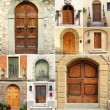 Old fashion doors collage, Italy — Stock Photo