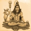 Ancient image of Shiva — Stock Photo