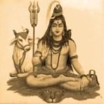 Ancient image of Shiva — Stock Photo
