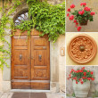 Front door collage — Stock Photo #9402693
