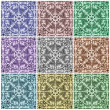 Multicolor ornamental tiles collage — Stock Photo