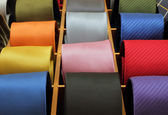 Colorful silk neck ties collection — Stock Photo
