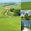 Collage with tuscan countryside,Chianti , Italy, Europe — Stock Photo