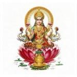 Composition with Lakshmi and Ganesha hindu gods — Stock Photo #9907437