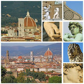 Collage with florentine touristic attractions — Stock Photo