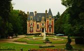 Original Norman architectural style palace in Livarot, Normandy, France — Stock Photo