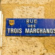 Street name plaque in old town of Bordeaux, France — Foto Stock