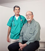 Male Doctor with Senior Male Patient — Stock Photo
