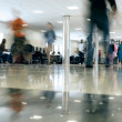 Stock Photo: Airport Concourse Rushing