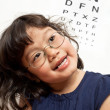 Royalty-Free Stock Photo: Little Girl Vision Test for Glasses
