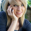 Pretty Girl Talking on Mobile Phone, Cell Phone — Stock Photo