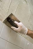 Tile and Mortar — Stock Photo
