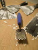 Trowels for Applying Mortar and Tile — Stock Photo