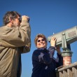 Stock Photo: Happy Skywatching and Birdwatching
