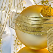 Stock Photo: Golden Christmas Ornament Macro
