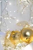 Romantische kerstmis achtergrond — Stockfoto