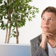 Businesswoman Thinking and Deciding — Stock Photo