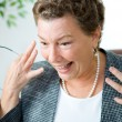Delighted and Surprised Executive Businesswoman — Stock Photo