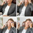 Stockfoto: Four Headaches for Price of One!