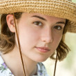 Straw Hat Girl — Stock Photo