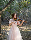 Fiddling In The Forest — Stock Photo