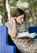 Young Woman Reading — Stock Photo