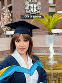 Graduation woman — Stock Photo