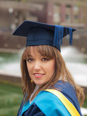 Graduation girl — Stock Photo