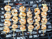 Prawn skewers — Foto de Stock