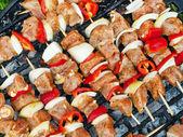 BBQ Chicken skewer — Stock Photo